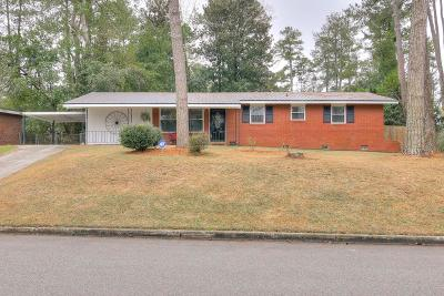 Augusta Single Family Home For Sale: 3338 Oakridge Drive