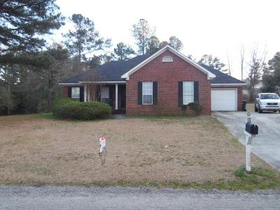 Augusta Single Family Home For Sale: 2912 Pillar Lane