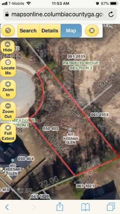 Columbia County Residential Lots & Land For Sale: 435 Keesaw Glen