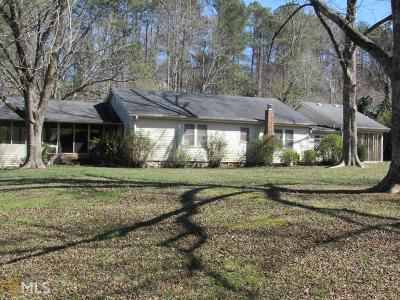 Bartow County, Cherokee County, Coweta County, Dawson County, Fannin County, Fayette County, Forsyth County, Gilmer County, Hall County, Newton County, Paulding County, Rockdale County, Walton County Single Family Home For Sale: 4630 Waters Rd
