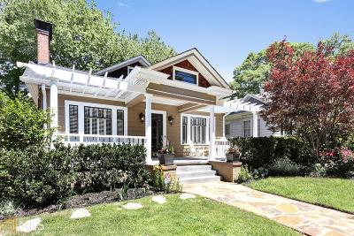 Virginia Highland Single Family Home For Sale: 638 Cooledge Ave