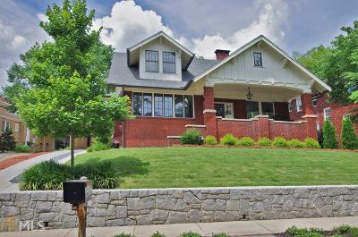 Virginia Highland Single Family Home For Sale: 988 Lanier Blvd