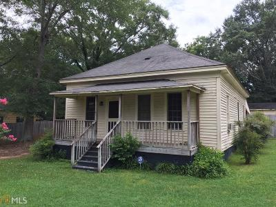 Social Circle GA Single Family Home For Sale: $65,000