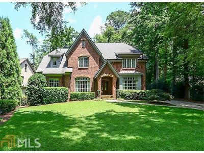 Buckhead Single Family Home For Sale: 3867 Wieuca Rd