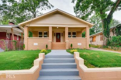 Adair Park Single Family Home For Sale: 1085 Metropolitan Pkwy