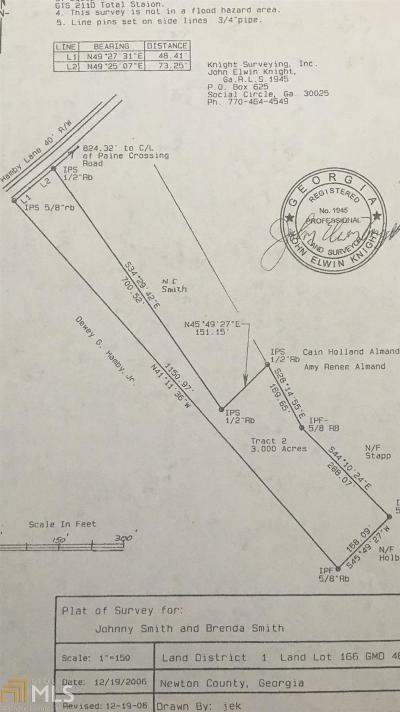 Social Circle Residential Lots & Land For Sale: Hamby Ln