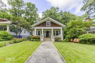 Decatur Single Family Home For Sale: 502 Ponce De Leon