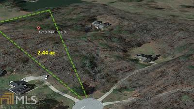 Rutledge Residential Lots & Land Back On Market: 1210 Rawlings Dr