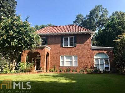Dekalb County Single Family Home For Sale: 1316 N Decatur Rd