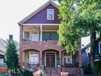 Old Fourth Ward Single Family Home For Sale: 563 East Ave