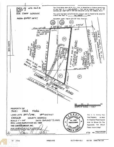 Chamblee Residential Lots & Land For Sale: 3195 Chamblee Dunwoody Rd