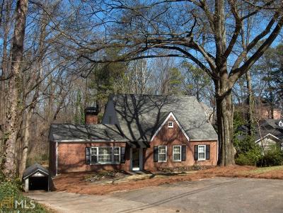 Atlanta Single Family Home New: 100 Mount Paran Rd