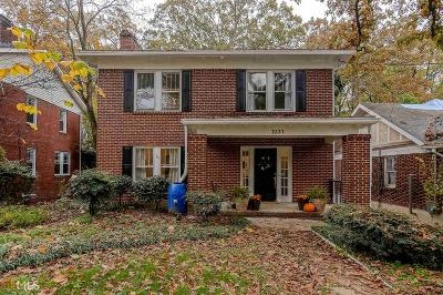 Dekalb County Single Family Home New: 1231 Briarcliff Rd