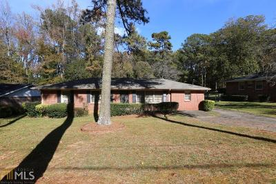 Fulton County Single Family Home New: 2741 Ben Hill Rd
