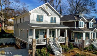 Grant Park Single Family Home For Sale: 718 Mercer St