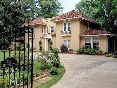 Buckhead Single Family Home New: 281 W Paces Ferry Rd