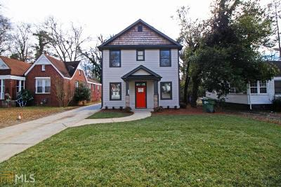 Atlanta Single Family Home New: 1732 S Gordon St