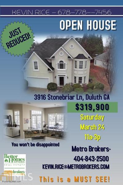 Duluth Single Family Home New: 3916 Stonebriar Ln