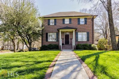 Avondale Estates Single Family Home For Sale: 13 S Avondale Rd