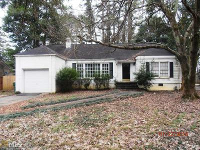 Fulton County Single Family Home For Sale: 4522 Wieuca Rd