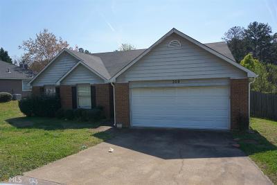 Stockbridge Single Family Home New: 359 Tait Rd