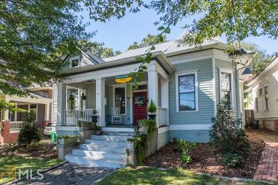 Atlanta Single Family Home New: 737 Cherokee Ave