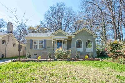 Hapeville Single Family Home Under Contract: 3415 Harding Ave