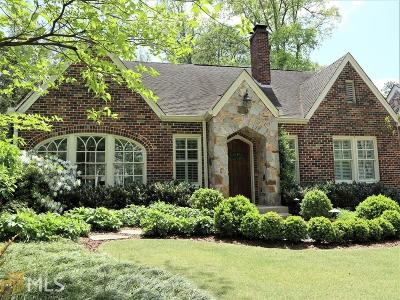 Atlanta Single Family Home New: 185 E Wesley Rd