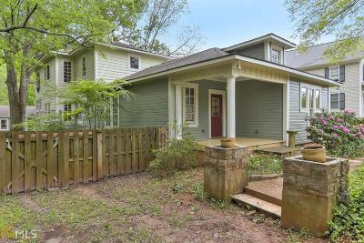Historic Marietta Single Family Home For Sale: 479 Kennesaw Ave