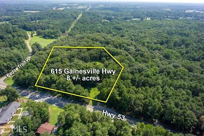 Winder Residential Lots & Land For Sale: 615 Gainesville Hwy