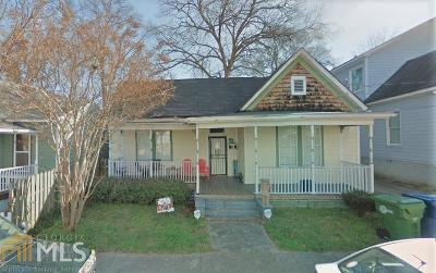 Old Fourth Ward Single Family Home For Sale: 74 SE Lucy St