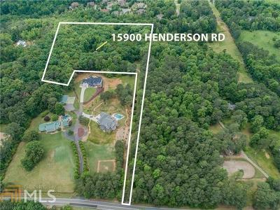 Single Family Home For Sale: 15900 Henderson Rd