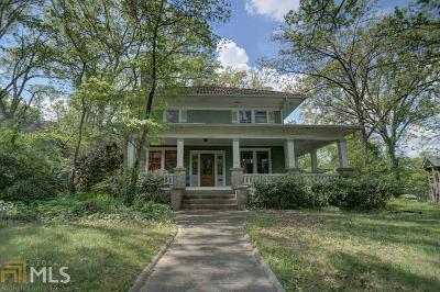 Decatur Single Family Home For Sale: 1024 Clairemont