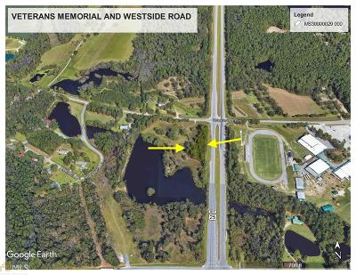 Statesboro Residential Lots & Land For Sale: Veterans Memorial And Westside Rd