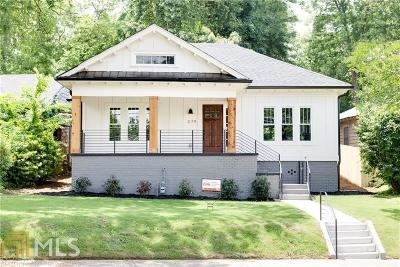 Old Fourth Ward Single Family Home For Sale: 379 Pine St
