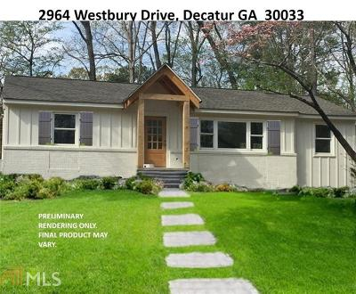 Decatur Single Family Home New: 2964 Westbury Drive