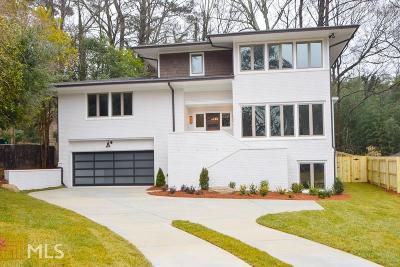 Atlanta Single Family Home New: 1453 Brook Valley Lane NE