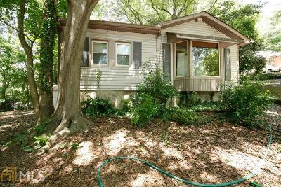 Atlanta Single Family Home New: 2868 Dearwood Drive SW
