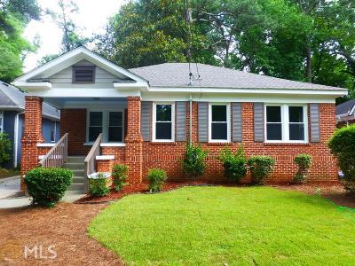 Atlanta Single Family Home New: 1656 Westwood Avenue SW