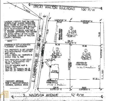 Monroe Residential Lots & Land For Sale: 1038 S Madison Ave