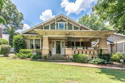 Virginia Highland Single Family Home For Sale: 1147 Hudson Dr
