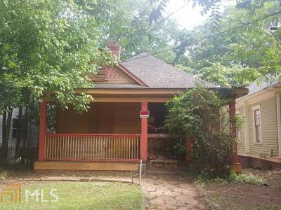 Grant Park Single Family Home For Sale: 293 Ormond