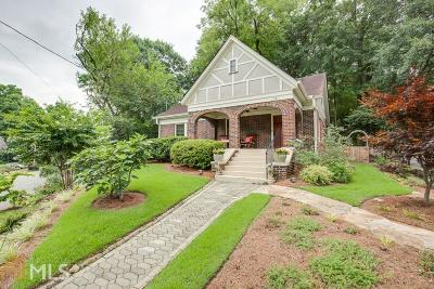Inman Park Single Family Home New: 1121 Alta Ave