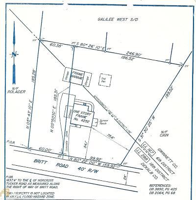 Tucker Residential Lots & Land For Sale: 4252 Britt Rd