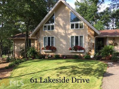 Newnan Single Family Home New: 61 Lakeside Dr