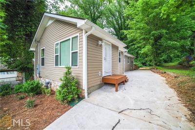 Atlanta Single Family Home New: 1625 Orlando Street SW