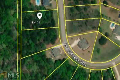 Covington Residential Lots & Land New: 235 Alcovy Reserve Way #20