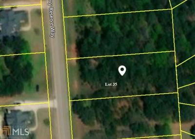 Covington Residential Lots & Land New: 250 Alcovy Reserve Way #35