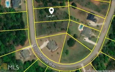 Covington Residential Lots & Land New: 230 Alcovy Reserve Way #37