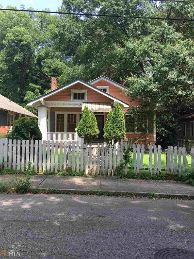 Fulton County Single Family Home New: 1372 Graham St